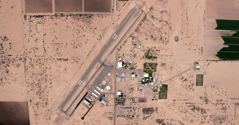 Skydiving facilities at Skydive Arizona: aerial view
