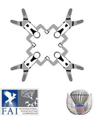 Symbol for FAI/USPA 4-Way Formation Skydiving