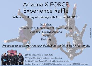 Arizona X-Force Experience Raffle, 2018