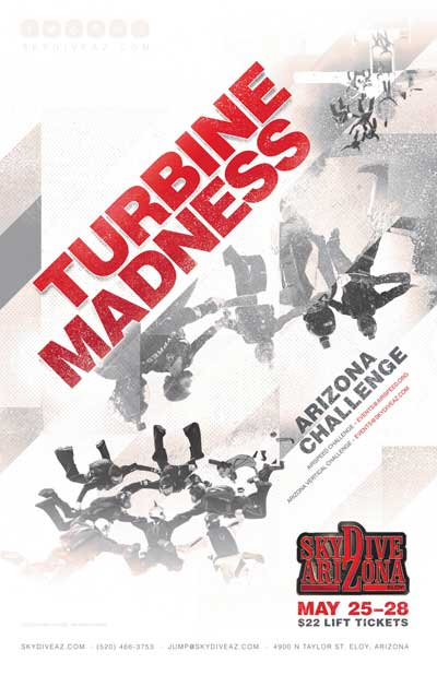 Turbine Madness. An event at Skydive Arizona from May 25 to 28, 2018.